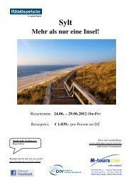 06 24 Sylt Reiseprogramm