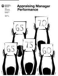 Appraising Manager Performance - USDA Rural Development