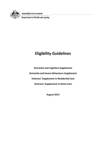 Eligibility Guidelines