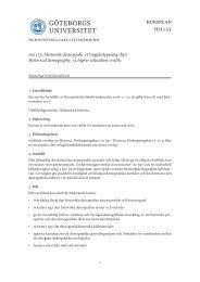 kursplan hi2135 - Institutionen för historiska studier