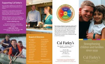 Strengthening children and families since 1939 - Cal Farley's