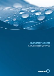 savewater!® Alliance Annual Report 2007/08 - Savewater.com.au