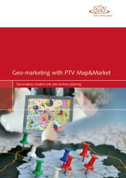 Geo-marketing with PTV Map&Market - Software