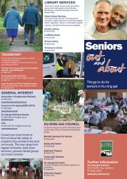 Seniors out and about brochure