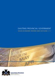 Socio Economic Review and Outlook 2013 - Gauteng Provincial ...