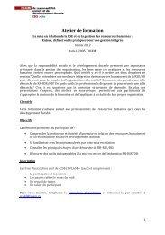 Accéder au programme détaillé - Chaire de responsabilité sociale et ...