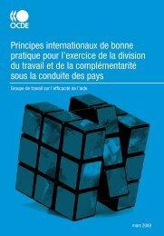 OCDE, 2009. Groupe de travail sur l'efficacité de l'aide - Institut de ...