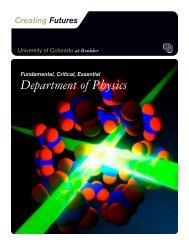 Department of Physics - University of Colorado Foundation