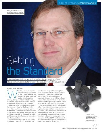 Setting the standard - Engine Technology International