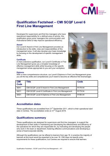 "cmi level 5 management communication Free essay: certificate in first line management assignment for 3009 ""management communication"" richard small word count: 2122 management communication unit."