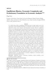 Equilibrium illusion, economic complexity, and evolutionary ...