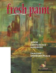 2008 Conference Schedule Imagine... Whirled Peace - Florida Art ...