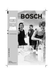 nl Gebruiksaanwijzing Internet: http://www. bosch–hausgeraete.de ...