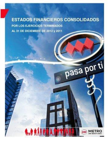ESTADOS FINANCIEROS CONSOLIDADOS - Metro de Santiago