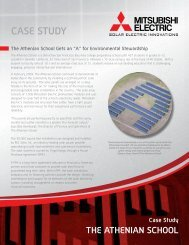 The Athenian School Case Study - Mitsubishi Electric