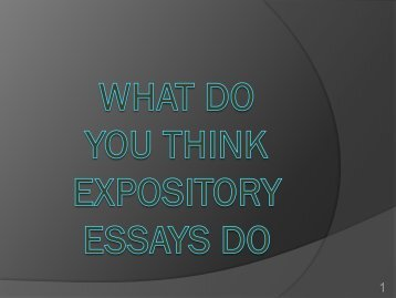 ExpositoryWriting PowerPoint