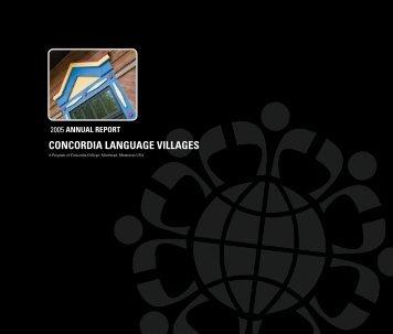 2005 annuaL rePort - Concordia Language Villages