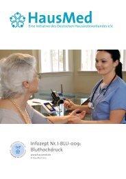 Infozept Nr. I-BLU-009: Bluthochdruck - HausMed