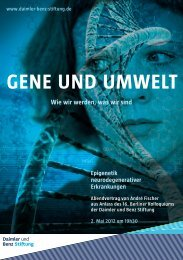 Gene und umwelt - Daimler und Benz Stiftung