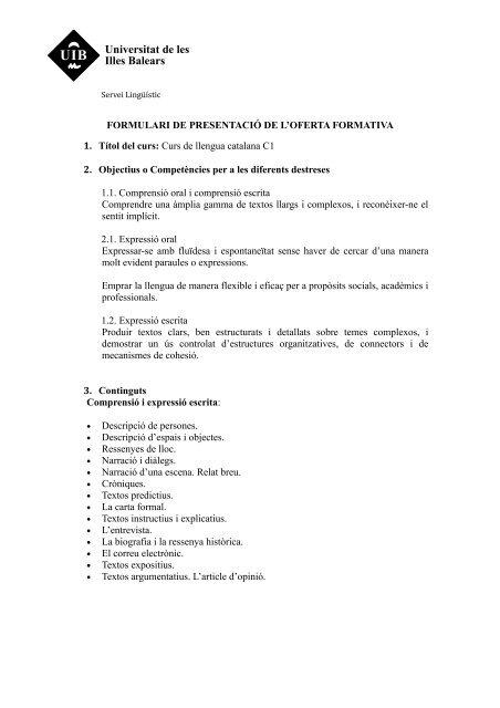 Programa Per Descarregar Servei Lingã ãstic Universitat