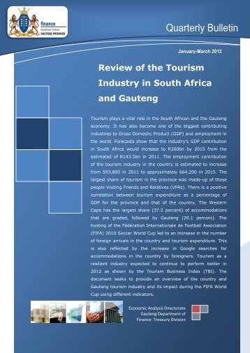 Quarterly Bulletin - Review of the Tourism Industry - Gauteng ...