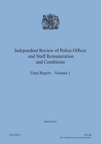 Final Report - Volume 1 - the South Wales Police Federation