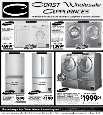 MSRP $2598 - Coast Wholesale Appliances