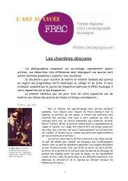 Pistes Pédagogique - FRAC Auvergne