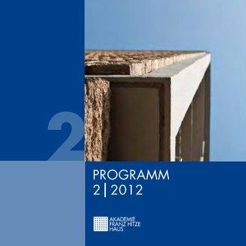 PROGRAMM 2 2012 - Franz-Hitze-Haus