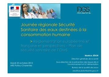 presentation DGS Journée SéSanE 23102012 - ARS Poitou ...