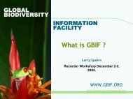 What is GBIF ? - Extranet