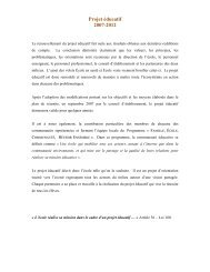 Projet éducatif et plan de réussite - Commission scolaire Pays des ...