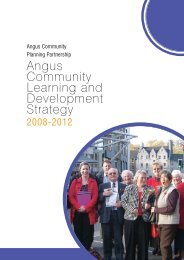 Angus Community Learning and Development Strategy 2008-2012