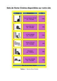 Sets de Home Cinéma disponibles sur notre site