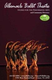 2013 Directory/Program - Albemarle Ballet Theatre Dance School ...