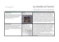 Programme terminale - FRAC Auvergne