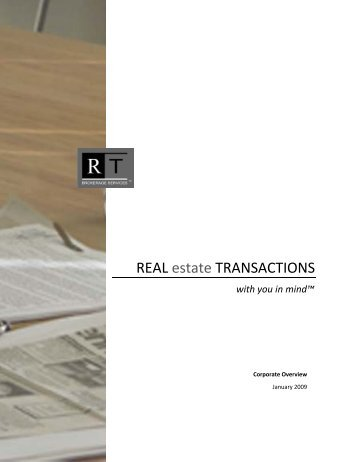 REAL estate TRANSACTIONS - Broker's Insider