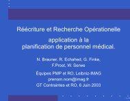 a la planification de personnel m´edical. - Contraintes et RO