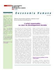 Oeconomia Humana - Chaire de responsabilité sociale et de ...