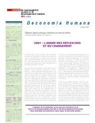 Janvier 2007 - Chaire de responsabilité sociale et de ...