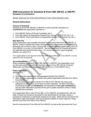 2007 Form 990 990 Ez Or 990 Pf Schedule B Cummins