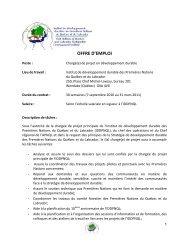 OFFRE D'EMPLOI - Chaire de responsabilité sociale et de ...