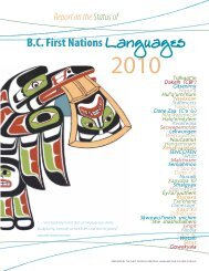 What is the status of BC First nations languages? - First Peoples