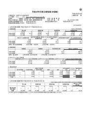 平成22年5月期 決算短信(非連結) - 日本オラクル