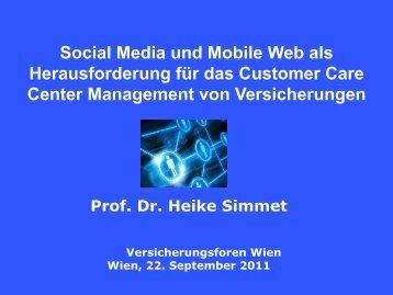 Social Media und Mobile Web als Herausforderung für das ...