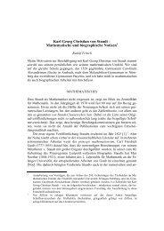 Karl Georg Christian von Staudt - Mathematisches Institut der ...
