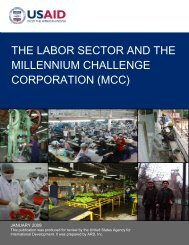 the labor sector and the millennium challenge corporation ... - GLaSAI