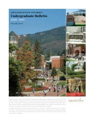 2010-2011 Bulletin - Office of the Registrar - Appalachian State ...