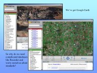 We've got Google Earth So why do we need complicated ... - Extranet