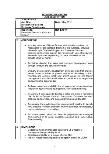 Job Specification and Person Specification - Hays